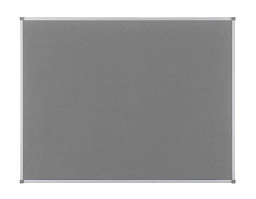 Nobo Elipse 1900911 Pinnwand Filz (Aluminiumrahmen, 900 x 600 mm) grau