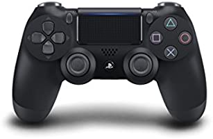 Sony Manette PlayStation 4 officielle, DUALSHOCK 4, Sans fil, Batterie rechargeable, Bluetooth, Jet Black (Noire)