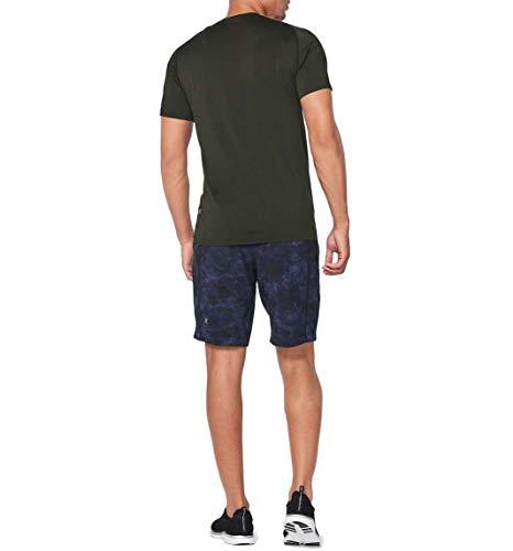 Lululemon Mens Metal Vent Tech Short Sleeve Shirt (Black (Original Logo), L)