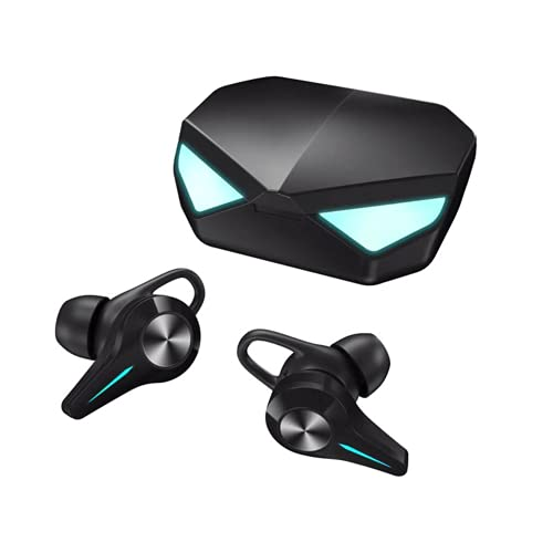 LVYIMAOJ Auriculares inalámbricos, Bluetooth 5.0 Gaming Headset 9D HiFi Stereo Cancelación de ruido, Control táctil TWS Mini Auriculares intrauditivos