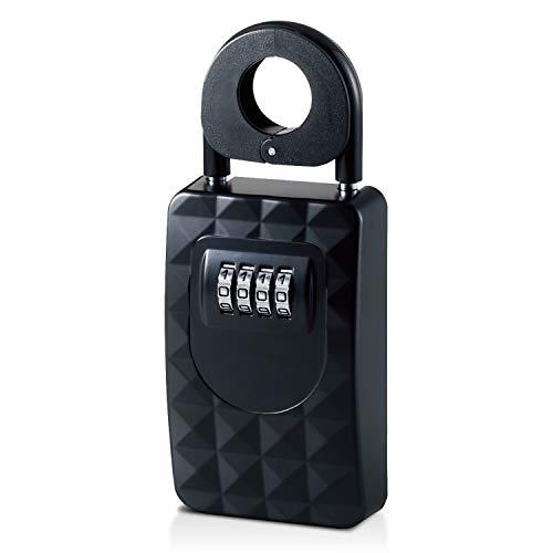 エレコム セキュリティキーボックス 鍵収納ボックス ダイヤル式 (4桁) 防犯 盗難防止 ESL-ECBOX01