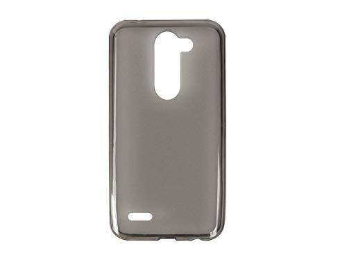 etuo Handyhülle für LG X Mach - Hülle FLEXmat Hülle - Schwarz - Handyhülle Schutzhülle Etui Hülle Cover Tasche für Handy