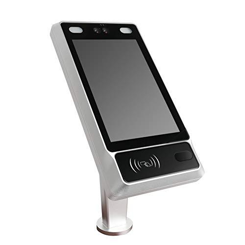 HHJY Biometrischer Lochkartenmaschine, Zugangskontroll Kamera, Eingangskontrolle, Körpertemperaturmessung Maskenerkennung