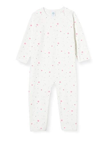 Sanetta Baby-Mädchen Broken Toller Overall in Off White winterlichen Schneeflocken-Allover, beige, 098