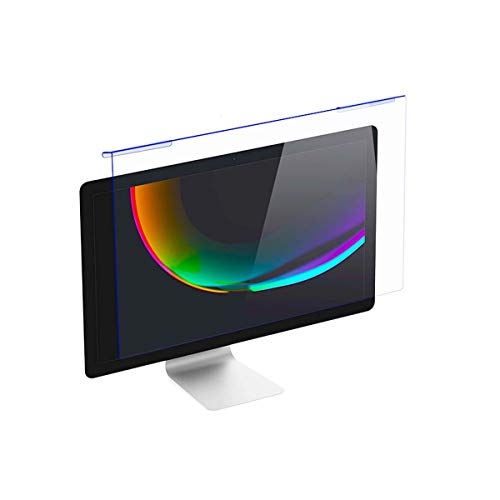 "20-22 Inch Computer Anti Blue Light Blocking Screen Protector Anti-UV Eye Protection Filter Panel for Diagonal 20"" 21.5"" 22"" 16:9 Widescreen Desktop PC LED Monitor Panel(19.29 x 12.48 Inch/L x W)"