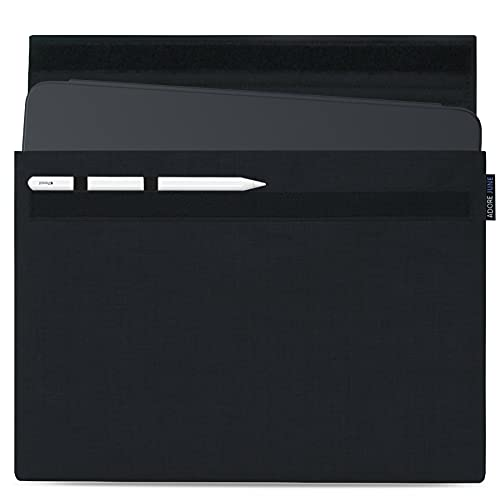 Adore June 12.9 Pulgadas Classic Negro Funda Compatible con iPad Pro 12.9 2021 2020; Soporte para Apple Pen