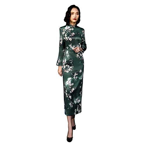 Zhuhaixmy Damen Chinesische Cheongsam Seide Qipao Traditionelle Brautkleider Elegantes Abendkleid