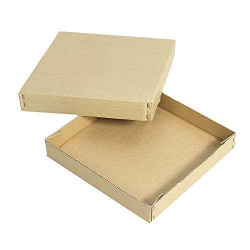アースダンボール 簡易C式 ダンボール箱 30cm角 茶 5枚【0255】