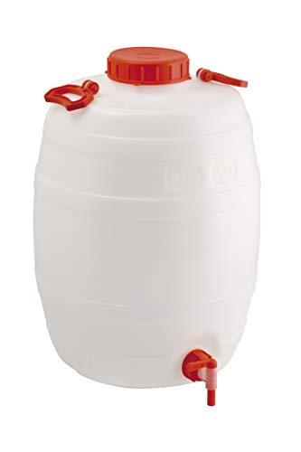 Fustino botticella in plastica 25 litri per alimenti con rubinetto e maniglia per trasporto - Mobil Plastic