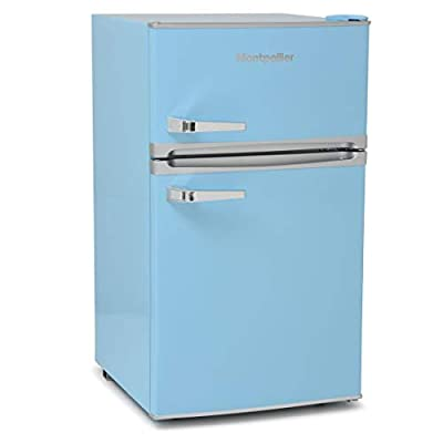 Montpellier MAB2031PB Under Counter Blue Retro Fridge with Freezer