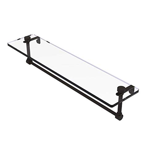 Allied Brass NS-1/22TB 22 Inch Vanity Integrated Towel Bar Glass Shelf, Oil Rubbed Bronze