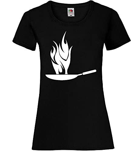 Hot Wok Frauen Lady-Fit T-Shirt Schwarz XL - shirt84.de