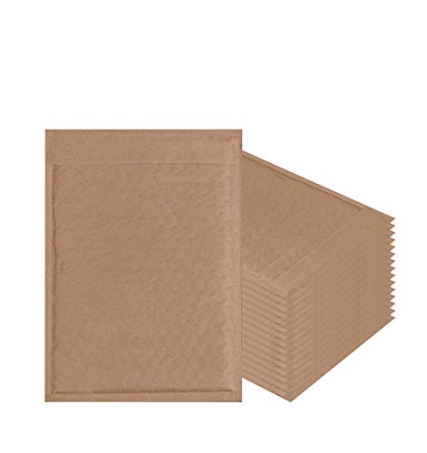 Pack of 250 Natural Kraft Bubble mailers 6x9 Brown Padded envelopes 6 x 9 by Amiff. Kraft Paper Cushion envelopes. Exterior Size 7x9.5 (7 x 9 1/2). Peel and Seal. Mailing, Shipping, Packing, Packaging