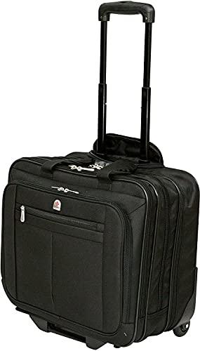 Executive Laptop Roller Bag Wheeled Pilot Case Briefcase Overnight & 15' - 17' Laptop Compartment