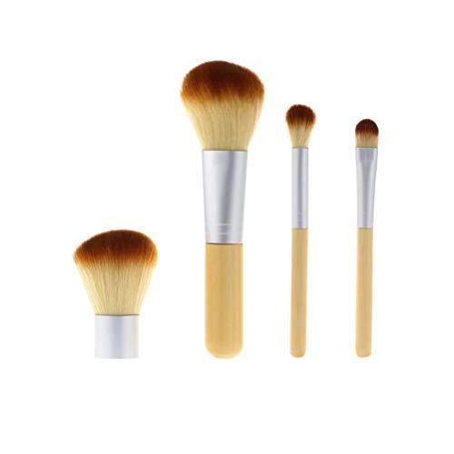 HEALLILY 4Pcs Bambou Poignée Pinceaux de Maquillage pour Fond de Teint Poudre pour Les Yeux Fard à Paupières Correcteur Blush