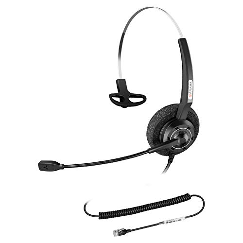 Arama Yealink Phone Headset with Enhanced Noise Canceling Mic RJ9 Headset for Yealink T19P T20P T21P T22P T26P T28P T23G T29G T32 T41S T42S T46S T48S Avaya 1608 9608GGrandstream Phones