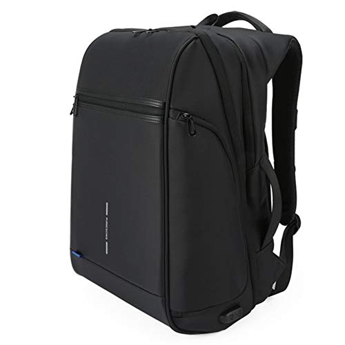 CGGA Kingsons 15'17' Laptop Backpack External USB Charge Computer Backpacks Anti-theft Waterproof Bags for Men Women large capacity (Color : Black model, Size : 15 Inches)