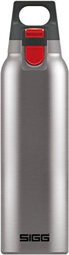 Sigg Hot & Cold ONE Brushed Thermo Trinkflasche (0.5 L), schadstofffreie und isolierte Trinkflasche, einhändig bedienbare Thermo-Flasche aus Edelstahl