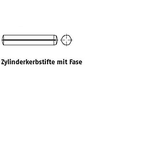 Zyl.kerbstifte m. Fase ISO 8740 Stahl 3 x 16 VE=S 250 Stück