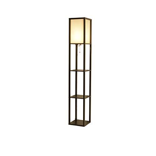 WEI-LUONG Diseños Simples Lámpara de almacenaje del Organizador del Estante de Fabirc Pantalla de Hierro Negro luz del Piso for Ministerio del Interior del Hotel Clásico