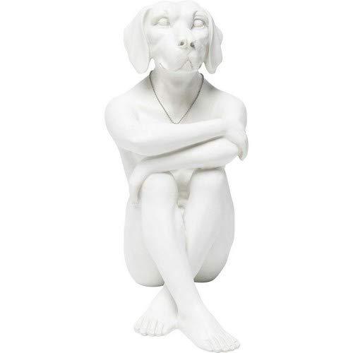 Kare Design Figur Gangster Dog Cream, Dekofigur Hund, Dekoobjekt weiß, sitzender Hund, (H/B/T) 33x26x17cm