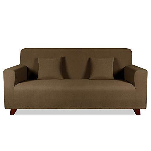 TAOCOCO Funda de sofá con Forma de Diamante/Funda de sofá Antideslizante/Funda de sofá elástica/Lavable/antiácaros/Antiarrugas (Marrón, 180_x_240_cm)