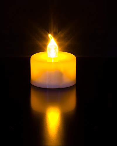 Flammenlose LED Kerzen, 24 LED Teelichter, warmweiß, CR2032 batteriebetriebene Kerzen für Weihnachten und andere Feierlichkeiten