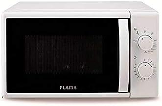 Flama Microondas Blanco 1884FL, 700W, Capacidad de 20L, Función Grill con Potencia de 1000W, Función de Descongelación