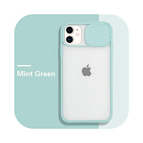 Funda para iPhone 11 12 Pro Max 8 7 6 6S Plus Xr XsMax X Xs SE 2020 12 Color Candy Soft Back Cover - Verde menta - para iPhone 6 (6S)