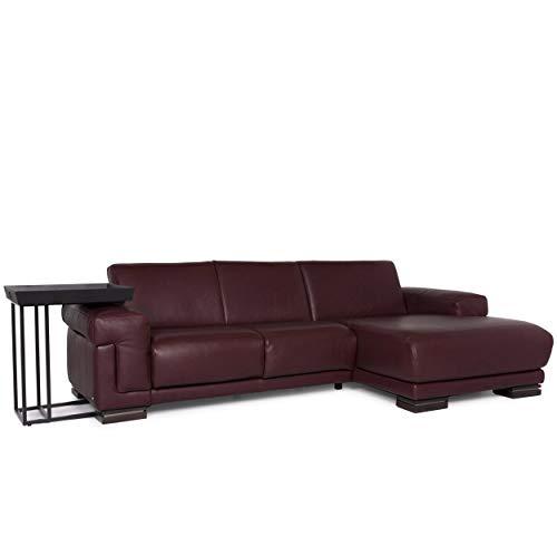 Natuzzi Leather Sofa Red Corner Sofa Incl. Side Table