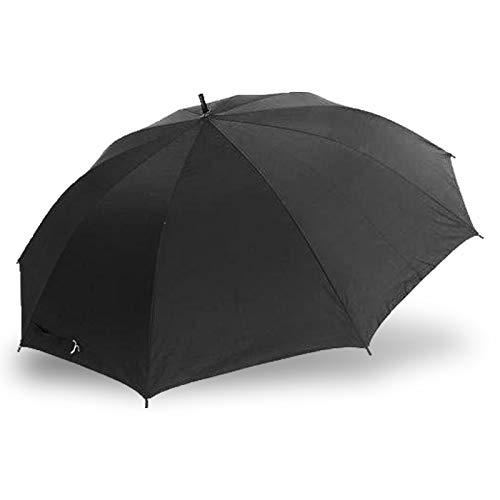 DRULINE 93 cm Regenschirm Stockschirm Automatik Schwarz Sonnenschirm Stabil Damen Herren
