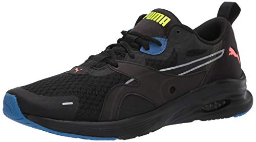 Puma Hybrid Fuego - Zapatillas deportivas para hombre, color negro y lava, color amarillo, alerta 14 M US