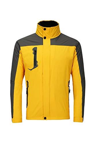 Licy Life-UK Unisexe Garçon Homme Femme Casual Outdoor Sport Blouson Veste Manteau Capuche Légère Softshell Polyester Imperméables Zip Hiver Automne Printemps