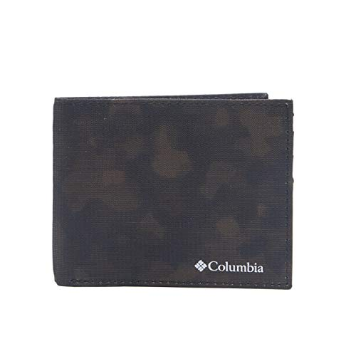 Columbia Men's RFID Blocking Nylon Slimfold Wallet, brown camo, One Size