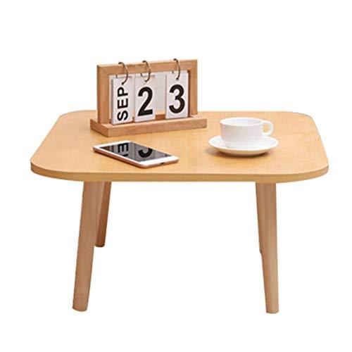 Mesas Finales Tabla Baja Tabla Mirador mesa de tatami perezoso turística tatami Mesa de Café Té Sofá Mesa lateral Inicio tatami mesa Mesas de centro Chabudai ( Color : Log square , Size : 40x40x30cm )