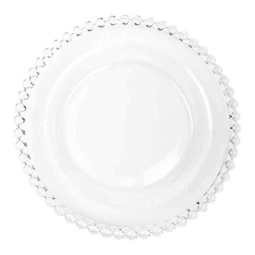 Bigbiglife Plato de Vidrio para Cena Plato para Servir Plato para Servir de Cristal Bandeja para Comida Plato para Fiestas para Pescado Sushi Fruta Queso
