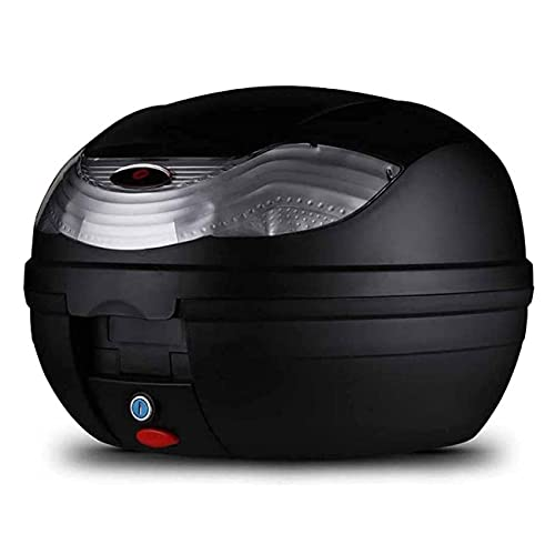 ANTLSZH Caja De Cola De Excursiones De Motocicleta, Caja De Equipaje De Motocicletas, Equipaje De Scooter Superior, para Gestión De Equipaje (32l)(Color:Negro)