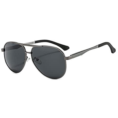 DovSnnx Unisex Polarizadas Gafas De Sol 100% Protección UV400 Sunglasses para Hombre Y Mujer Gafas De Aviador Gafas De Ciclismo Ultraligero Toad Espejo Pistola Montura Lente Gris