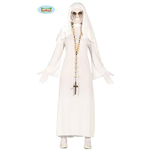Guirca- Costume de Suora Fantôma, 80939, Blanc, Taglia Unica