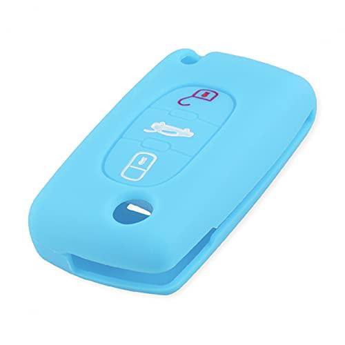 2/3 botón para Citroen Xsara Picasso C2 C3 C4 C5 C6 C8 para Peugeot 107206207307308406 Funda de Silicona para Llave Fob