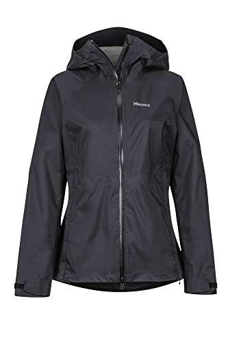 Marmot Damen Hardshell Regenjacke, Wasserdicht, Winddicht & Atmungsaktiv Wm's PreCip Stretch Jacket, Black, XL, 46130