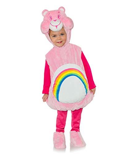 Lizenziertes Glücksbärchis Kleinkinderkostüm Hurrabärchi pink XL