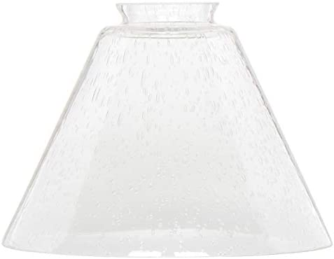 Clear Bubble Glass Shade XIDING Funnel Seeded Glass Shade Replacement Classic Style Highly Transparent product image