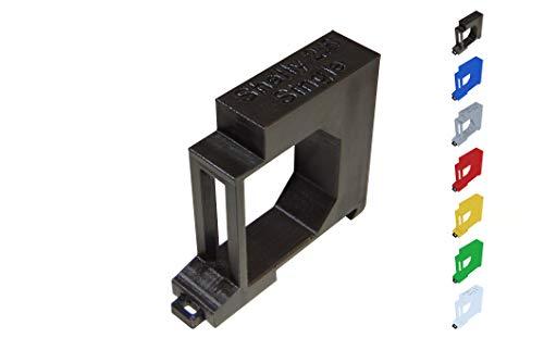Shelly 2.5 / EM Hutschienenhalter/Adapter Single DIN Rail bracket (35mm) (Rot)