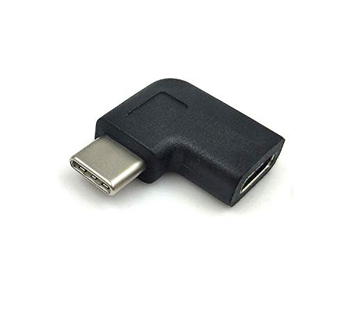 Maxhood adattatore USB C tipo C da maschio a femmina, ad angolo di 90 gradi, USB 3.1 per laptop e tablet e cellulare