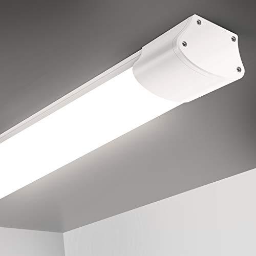 Oeegoo LED Feuchtraumleuchte 120cm, 32W 2800Lm Deckenleuchte LED Röhre, IP65 Wasserdichte Werkstattlampe Badlampe für Badzimmer Küchen Garage Keller Garten Neutralweiß 4000K