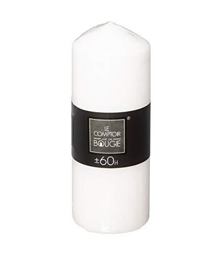 Atmosphera - Bougie Ronde Blanc 490 G H 18 cm