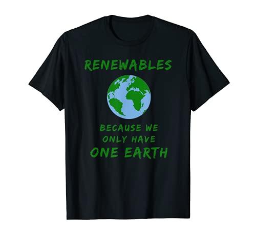 Energías renovables Clima sostenible Camiseta