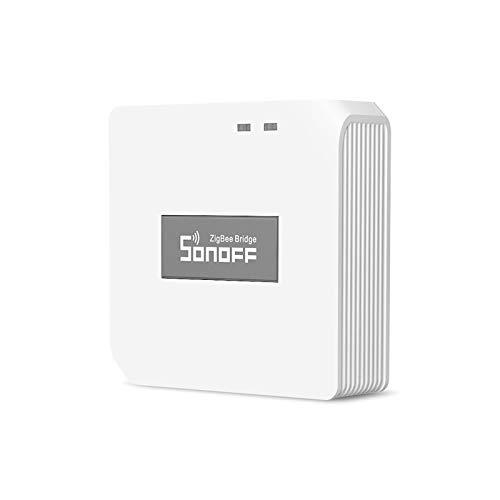 OWSOO Smart ZigBee Bridge ZigBee 3.0 APP Drahtlose Fernbedienung Smart Home Bridge Sprachsteuerung Kompatibel mit Alexa Google Home (Unterstützt nur SONOFF ZigBee-Geräte)