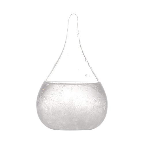 Hankyky Storm Glass Wetterstation Cloud Storm Crystal Wettervorhersage Flasche kreative stilvolle dekorative Desktop Weather Predictor Wassertropfen für Heim und Büro